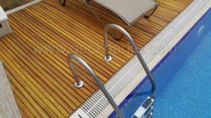 Havuz Kenarı Ahşap Deck ızgara