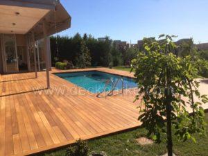 Havuz Kenarı Uzun Boy Ahşap Deck Kaplama