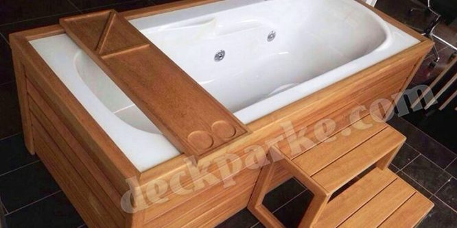 Duş Banyo Jakuzi Ahşap Deck Kaplama
